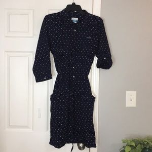 NWOTColumbia Polka Dot Button-Up Dress w/ pockets